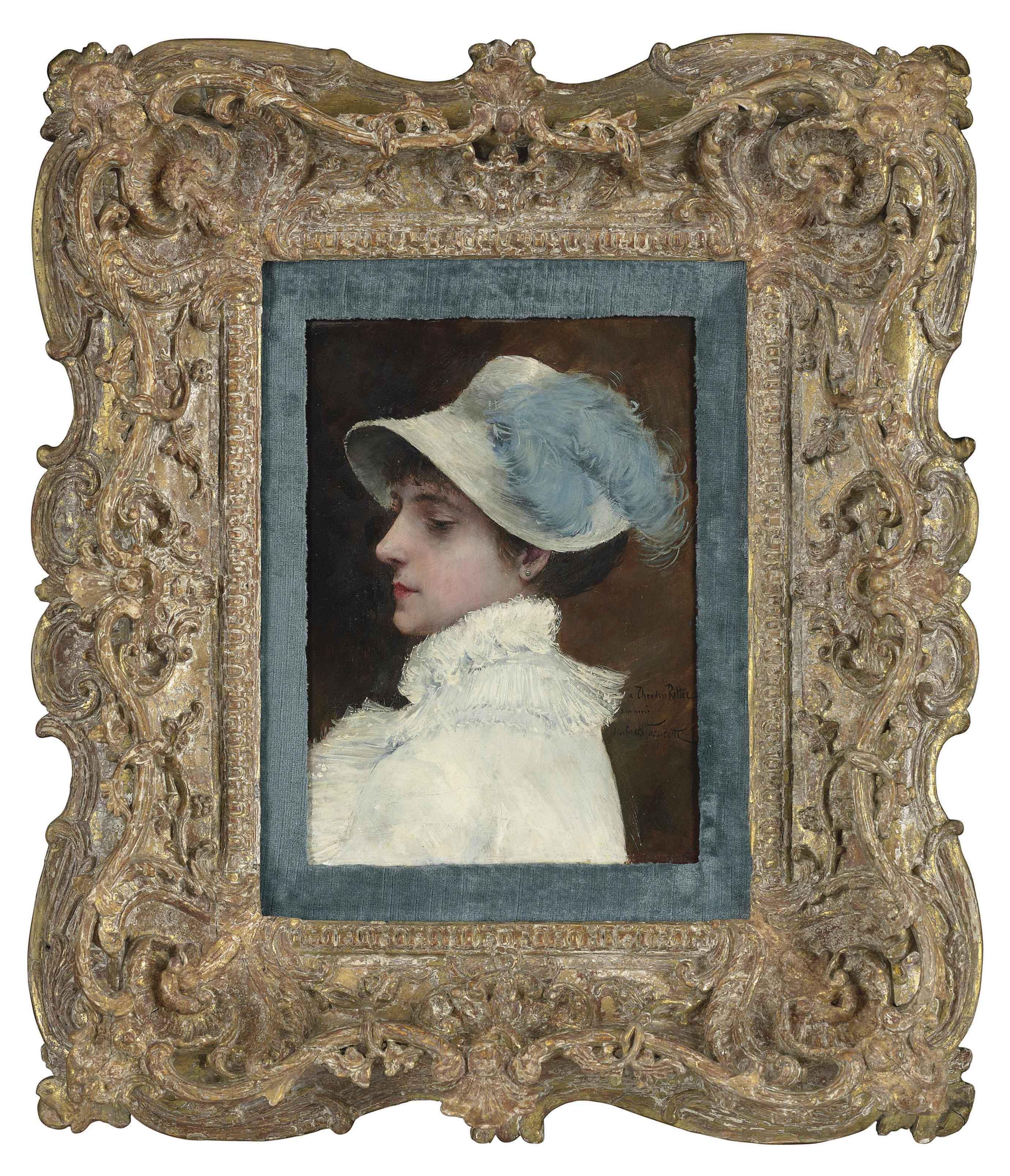 La femme au plumet bleu