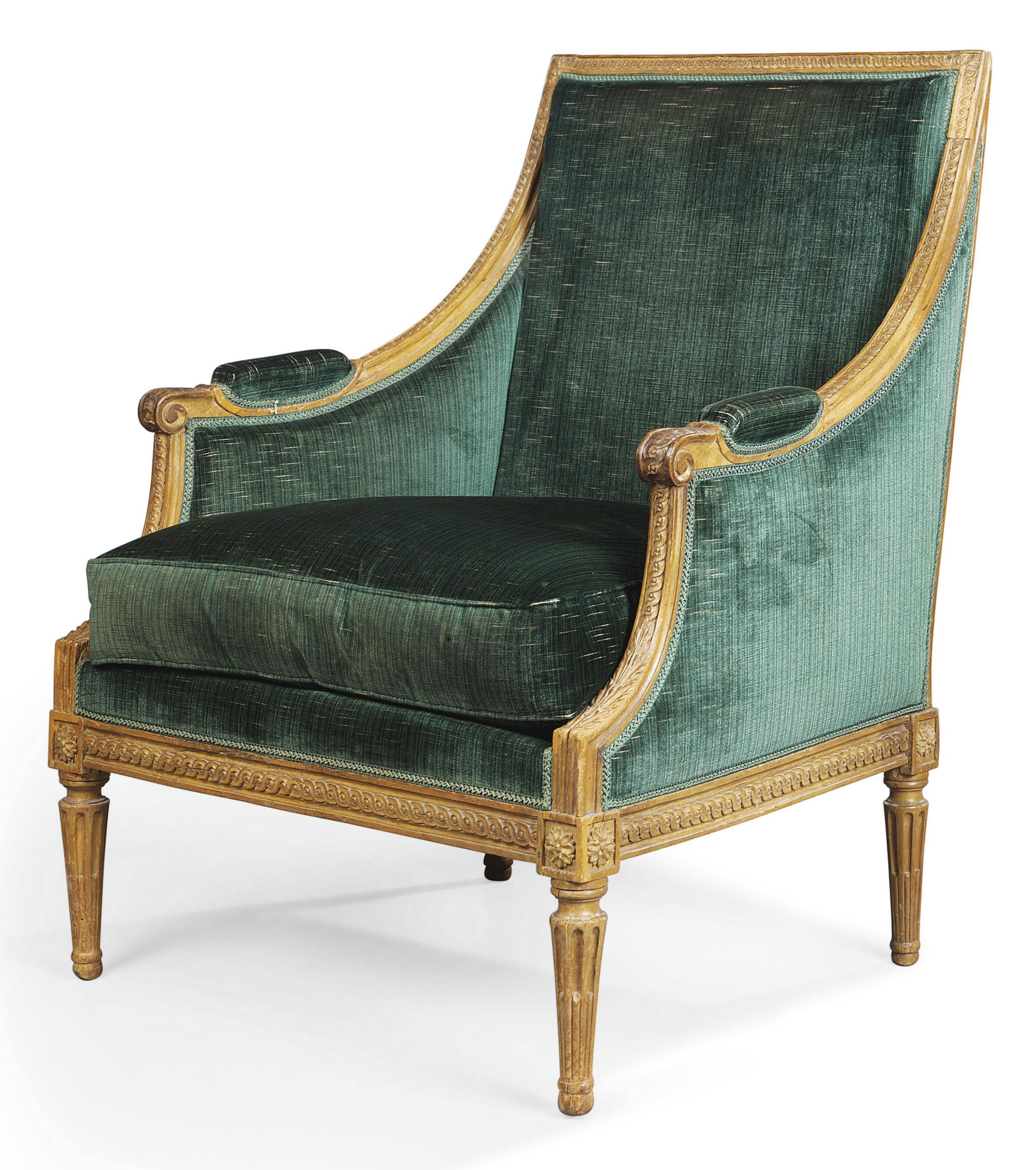 a louis xvi beechwood bergere circa 1785 christie 39 s. Black Bedroom Furniture Sets. Home Design Ideas