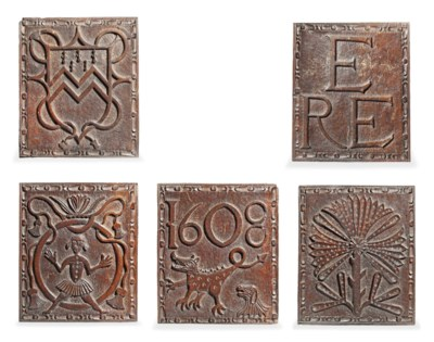 A SET OF EIGHT JAMES I CARVED