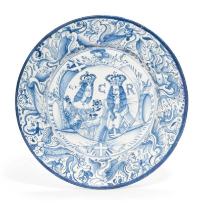 A DELFT BLUE AND WHITE ROYAL D