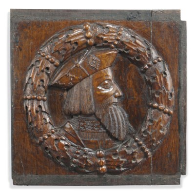 AN ENGLISH OAK PANEL
