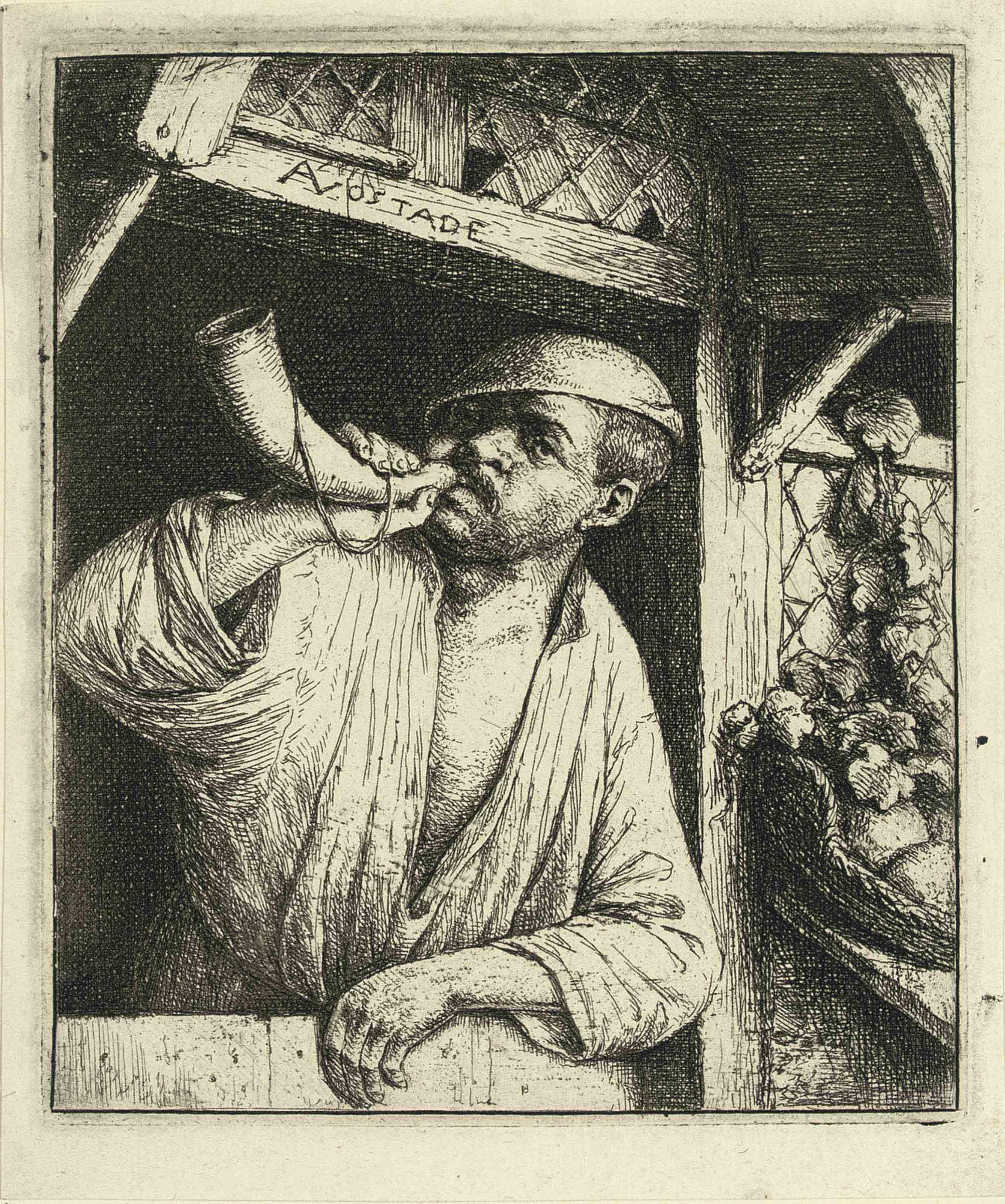 The Baker sounding his Horn (B., Holl., G. 7)