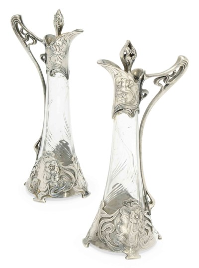 A MATCHED PAIR OF WMF SILVERED