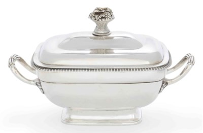 A GEORGE III SILVER SAUCE TURE