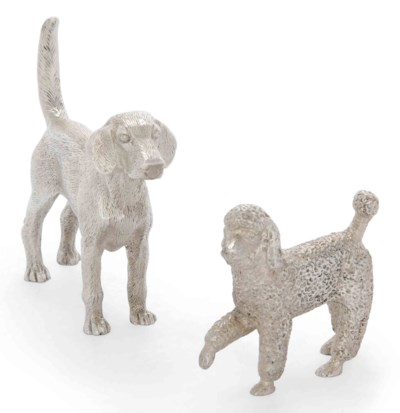 TWO MODERN SILVER MODELS OF DO