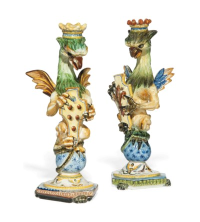 TWO CANTAGALLI CANDLESTICKS