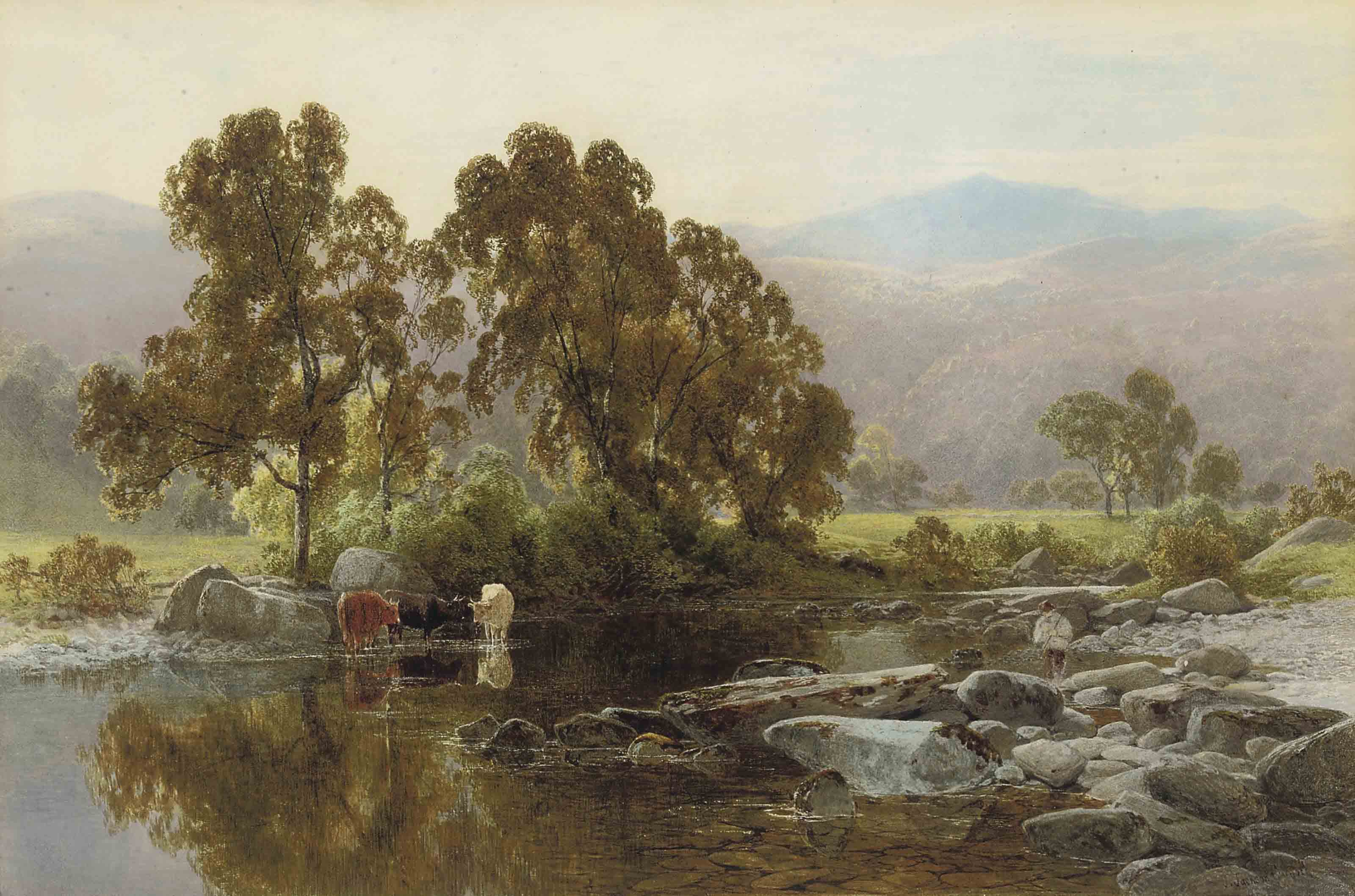 The riverside at Capel Curig, Wales