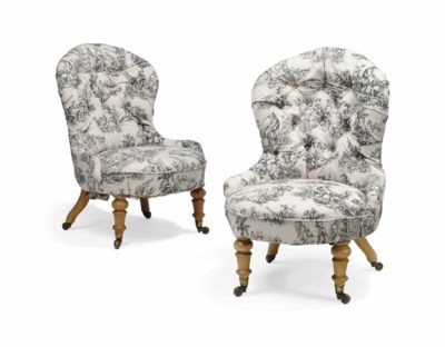 A PAIR OF VICTORIAN BIRCH LOW