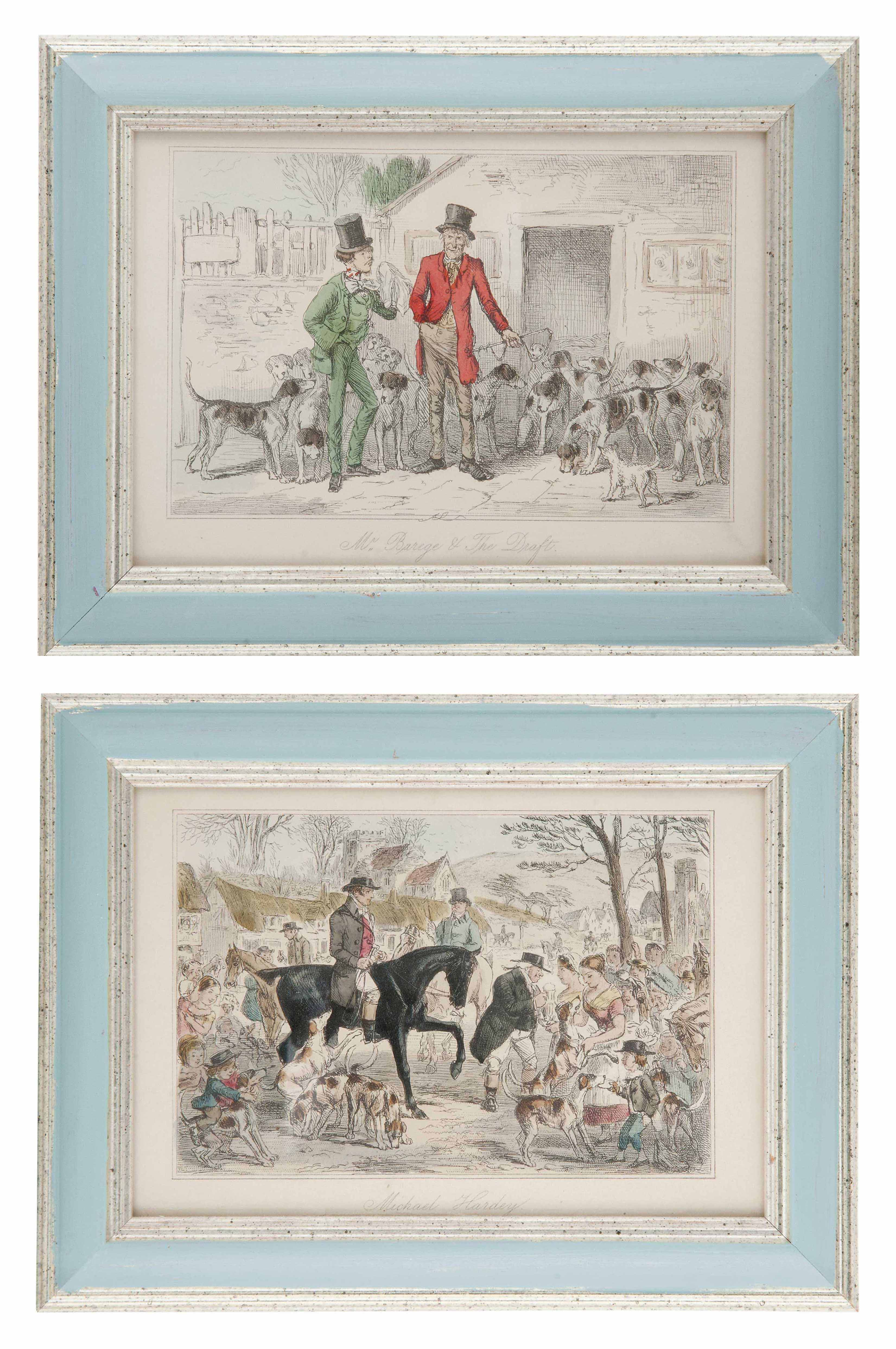 TWELVE HAND COLOURED ENGRAVINGS FROM 'MR. SPONGE'S SPORTING TOUR'