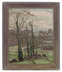 Landscape with elms