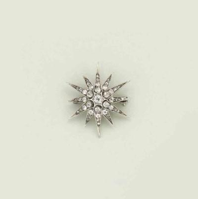 A late 19th century diamond st