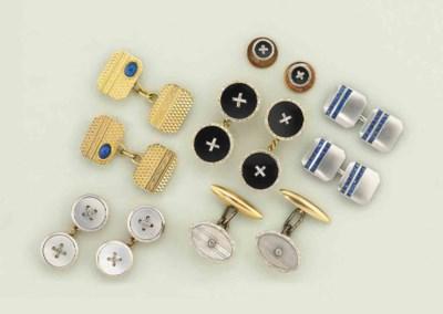 A group of Art Deco cufflinks