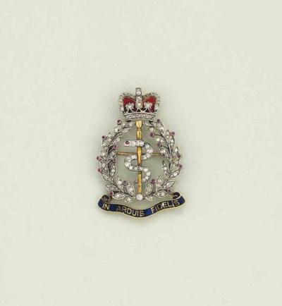 A diamond, ruby and enamel reg