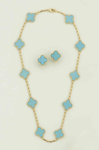 A set of turquoise 'Alhambra'