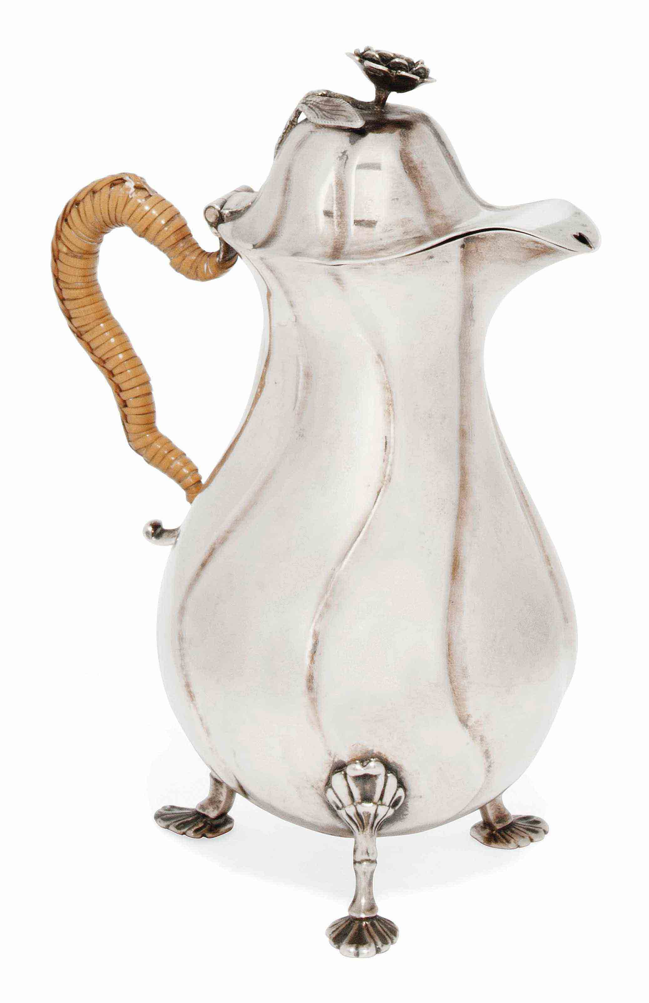 A BALTIC SILVER HOT WATER/HOT MILK JUG