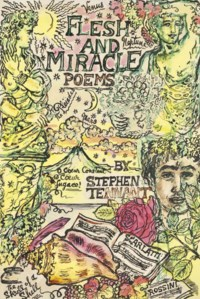 Two cover designs for poems by Stephen Tennant: the first for 'Flesh and Miracle Poems' (illustrated), the second 'A Primer for Love Poems'