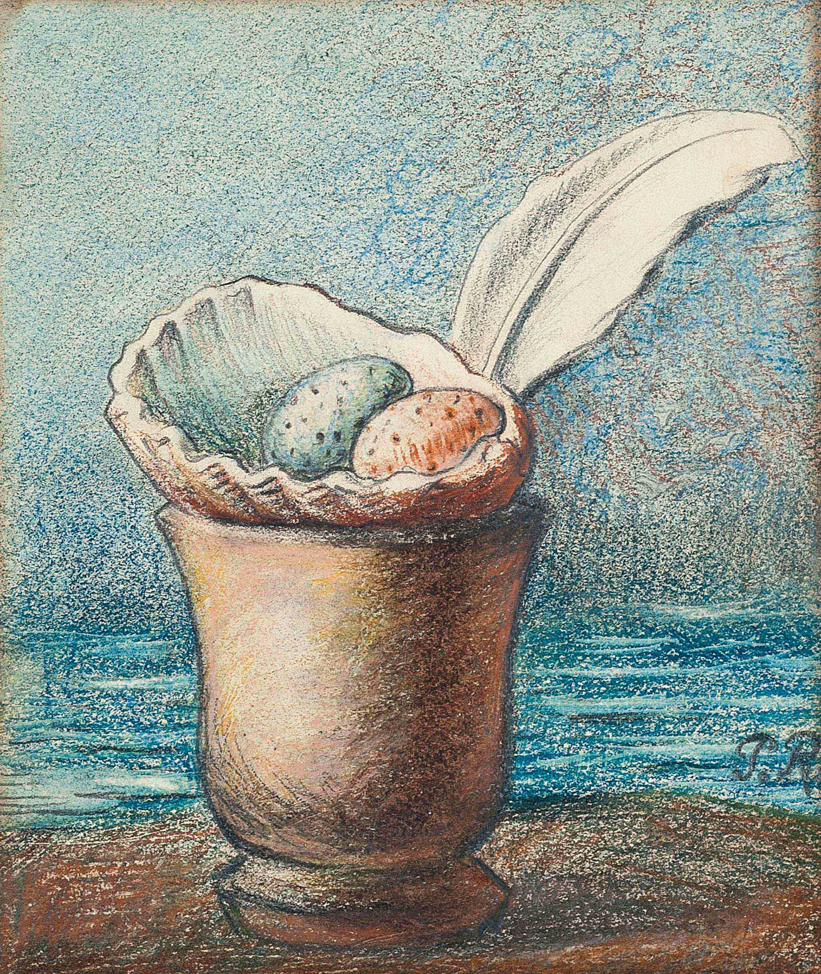 Coquillage avec oeufs