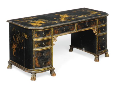 A CHINOISERIE BLACK JAPANNED A