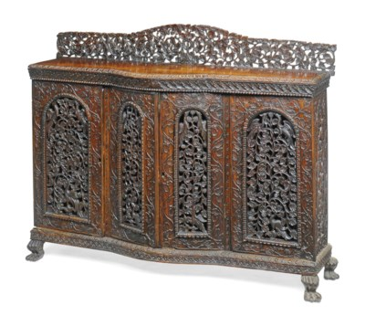 AN INDIAN CARVED 'BLACKWOOD' S