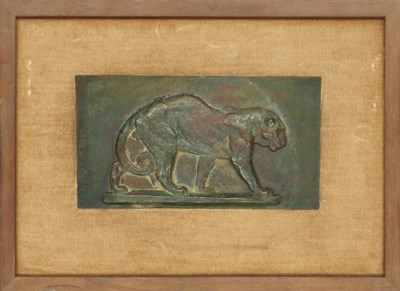 TWO FRENCH BRONZE ANIMALIER RE