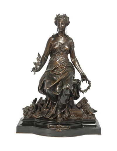 A FRENCH BRONZE MODEL OF PAX (