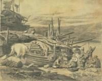 Macao - three sketches of Tanka boat people