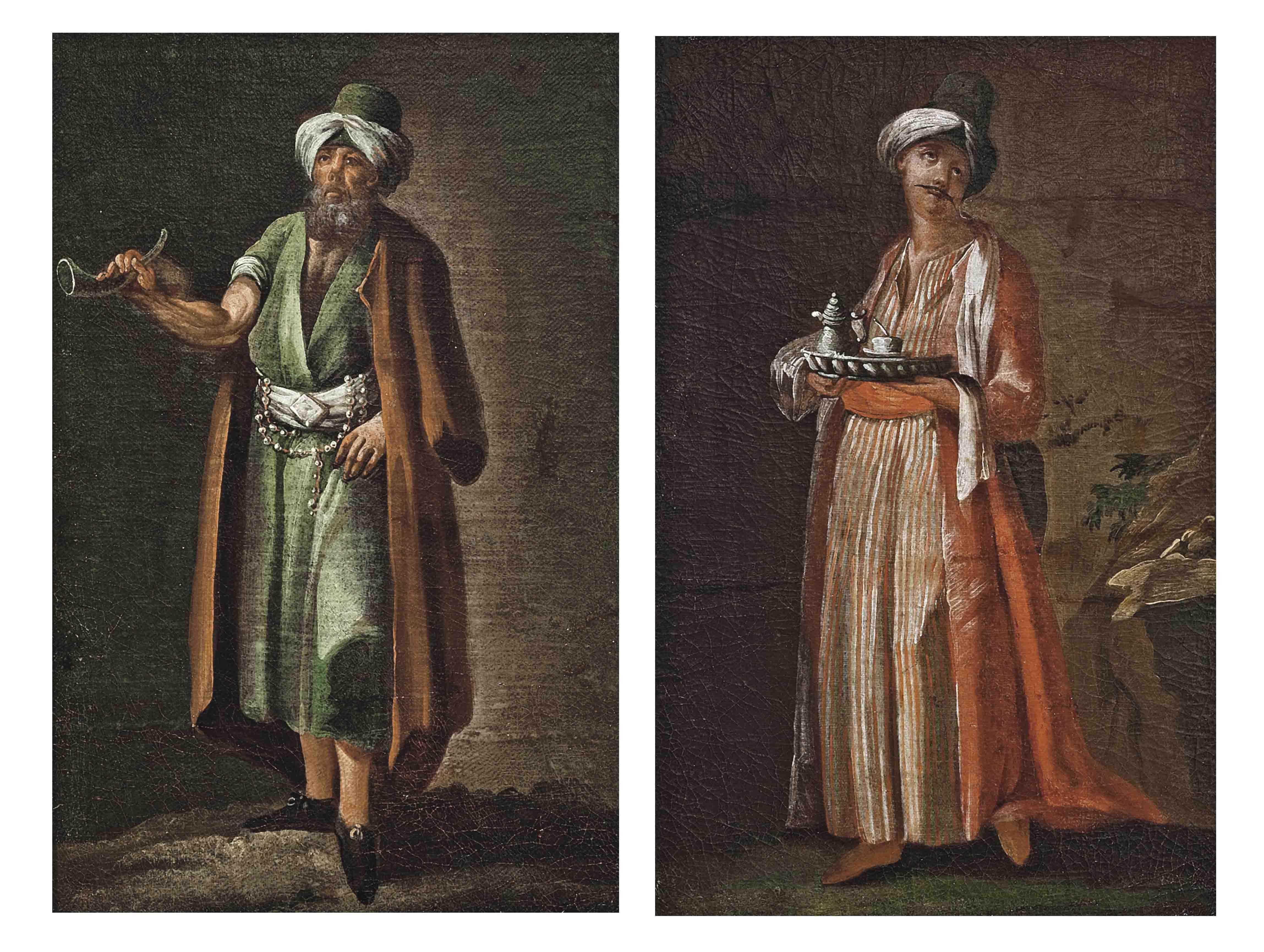 Figures in Levantine dress