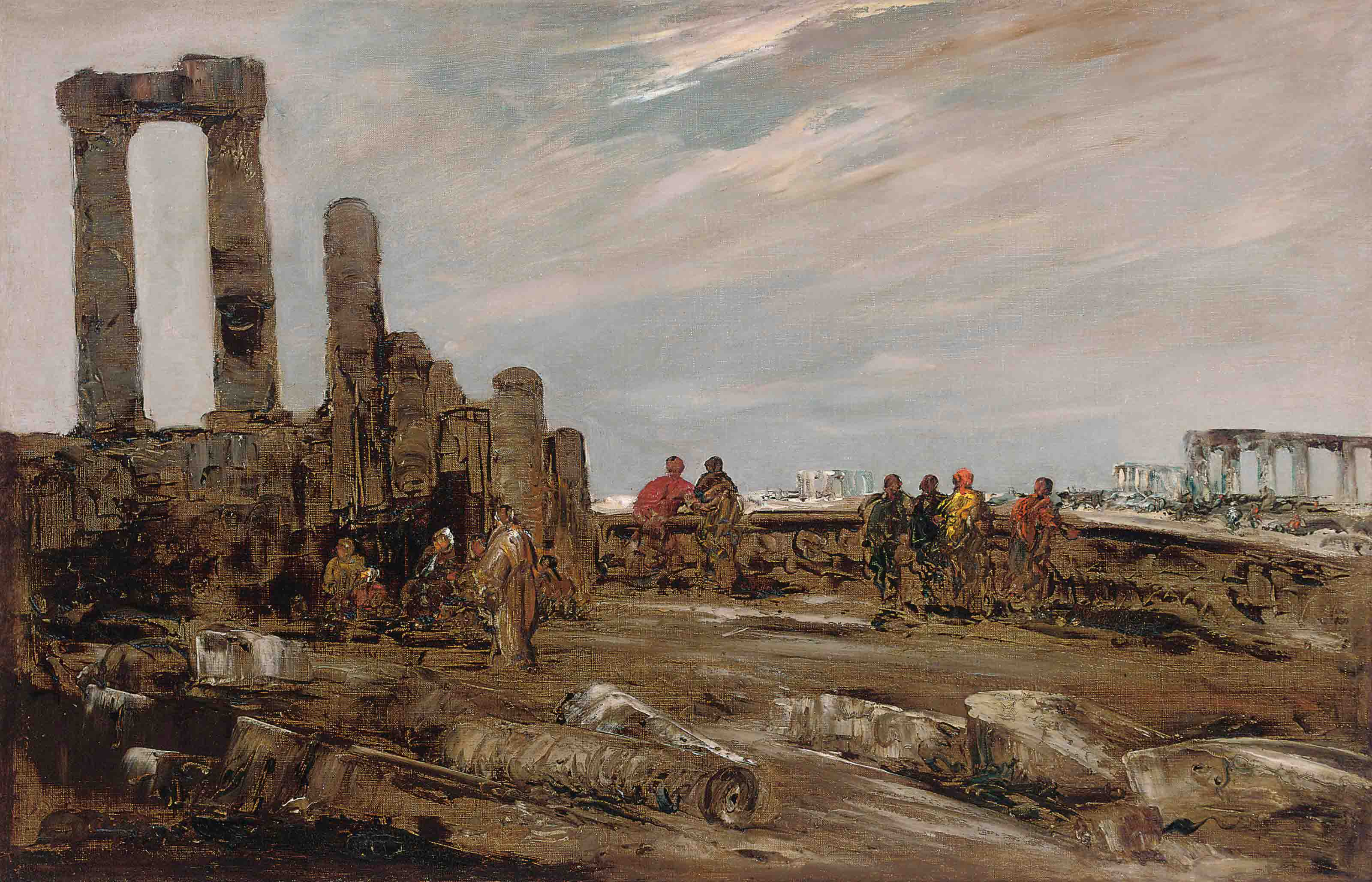 Arabs amongst the ruins