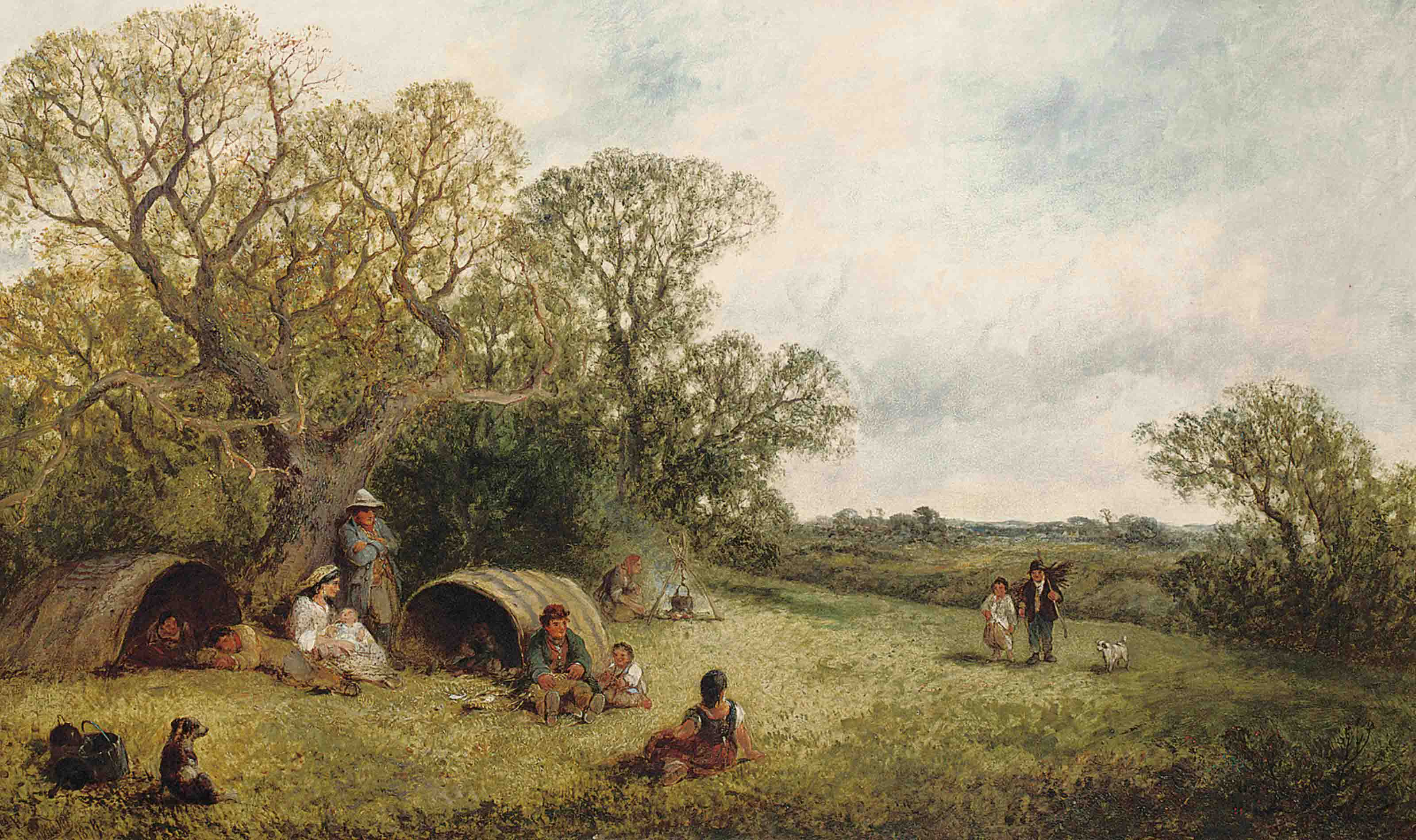 The gypsy encampment