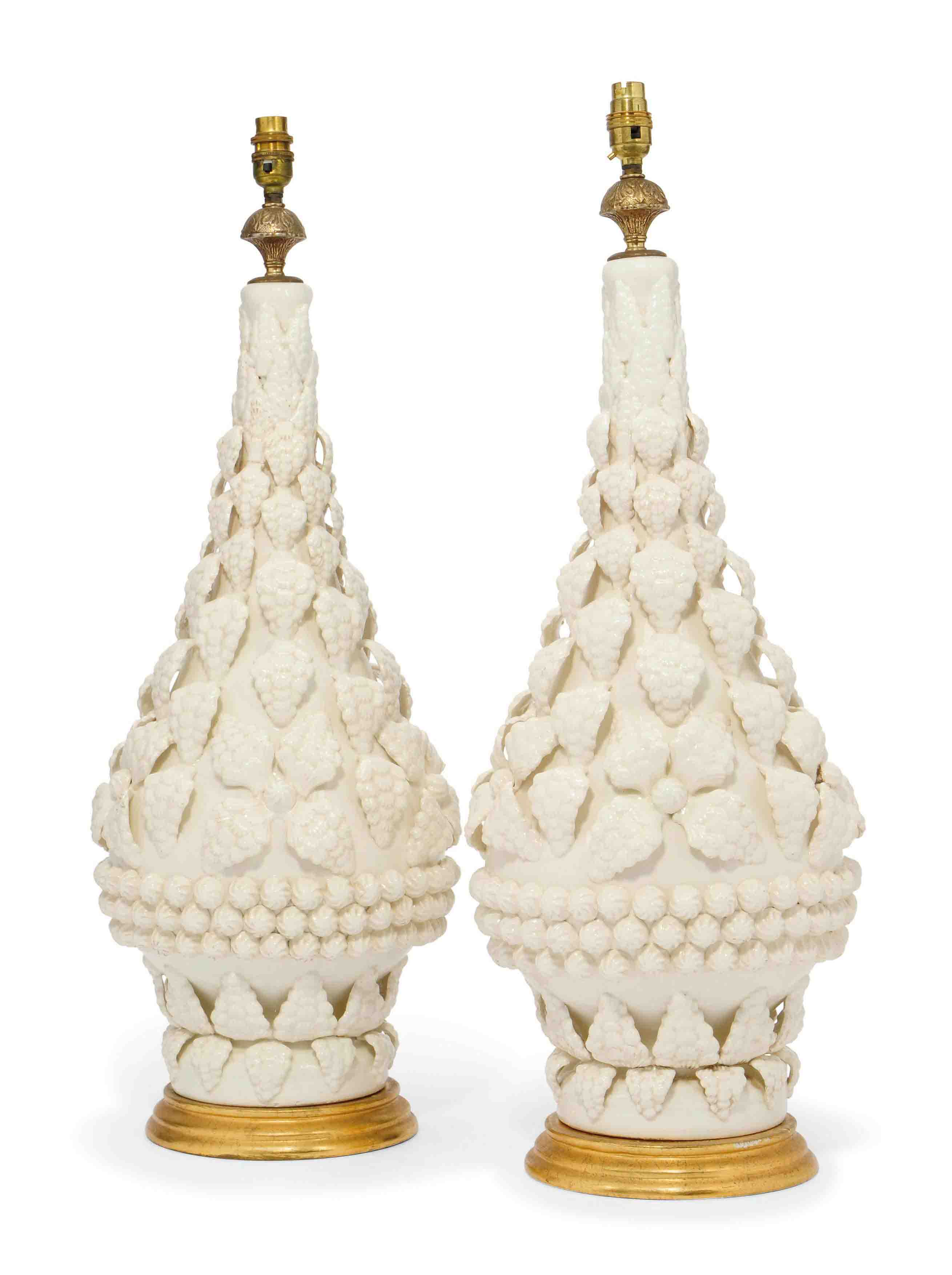 A PAIR OF CONTINENTAL FAIENCE VASES