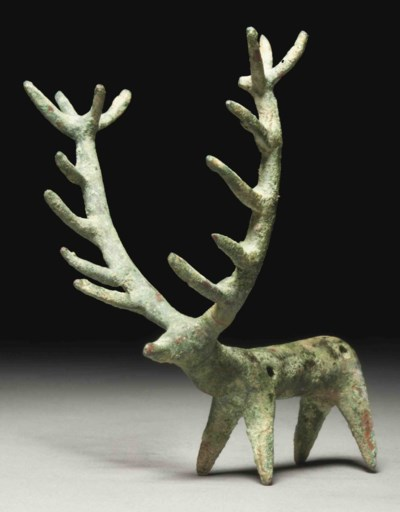 AN AMLASH BRONZE STAG