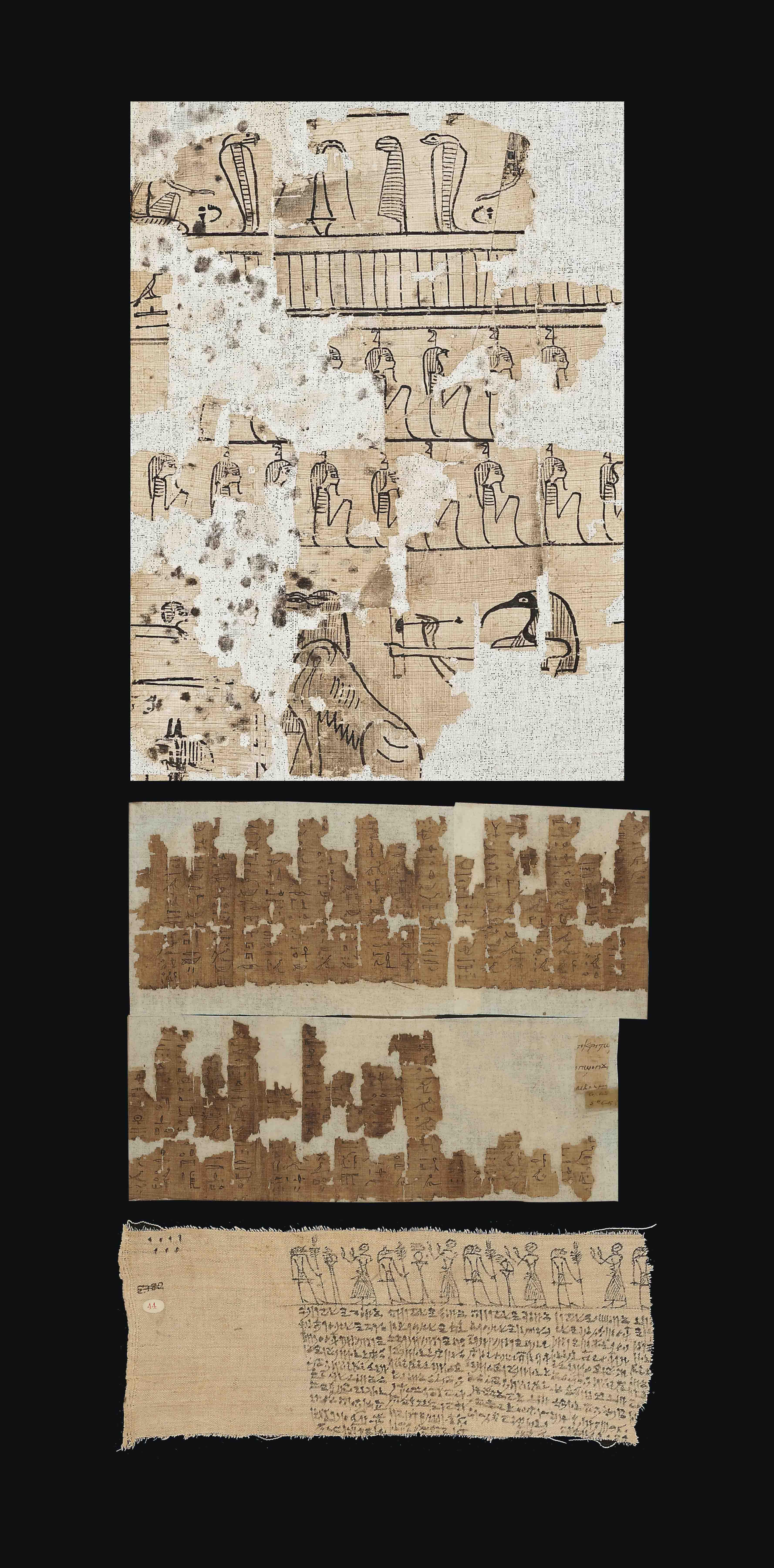 THREE EGYPTIAN PAPYRUS FRAGMENTS