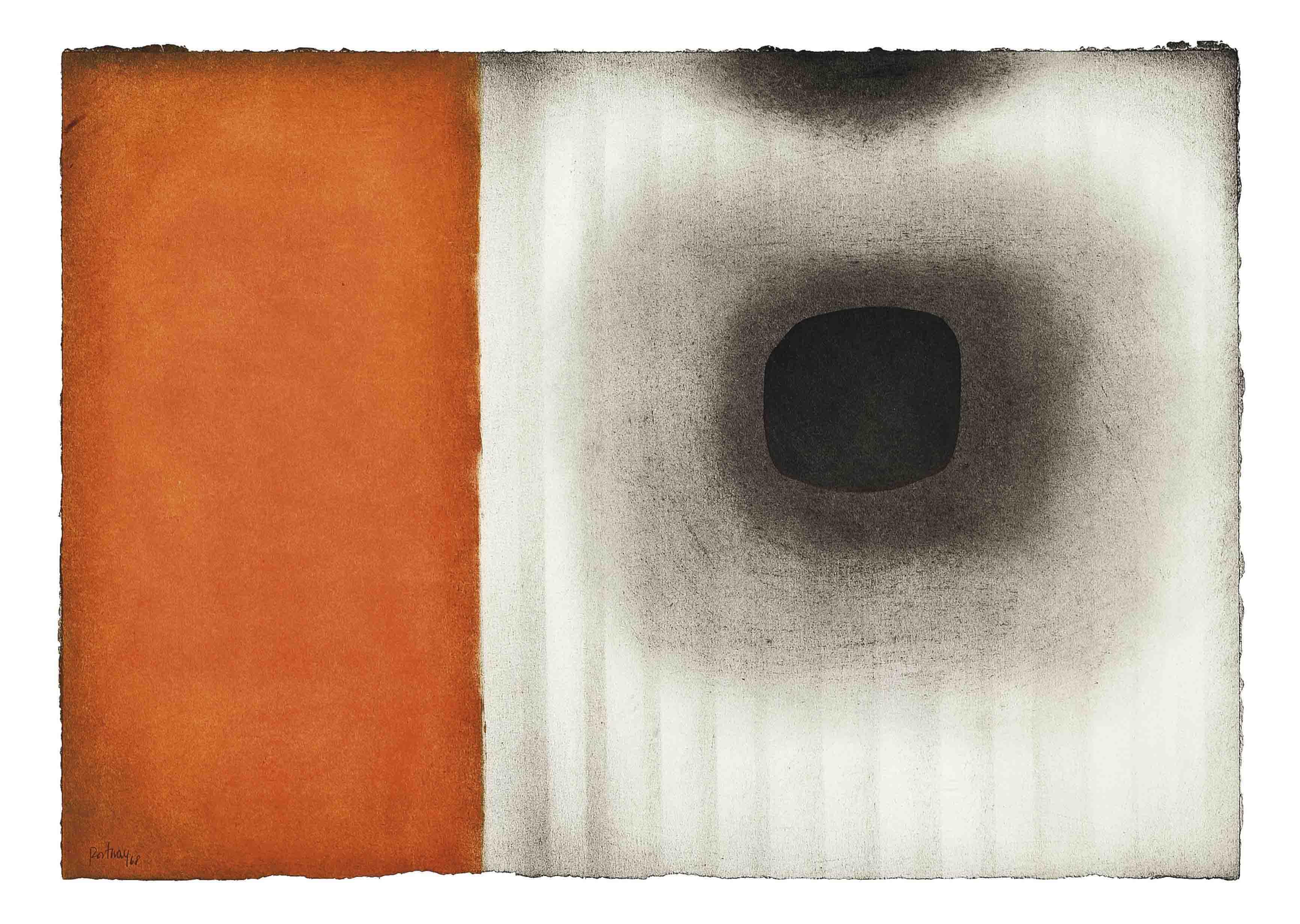 Orange-Grey Abstract