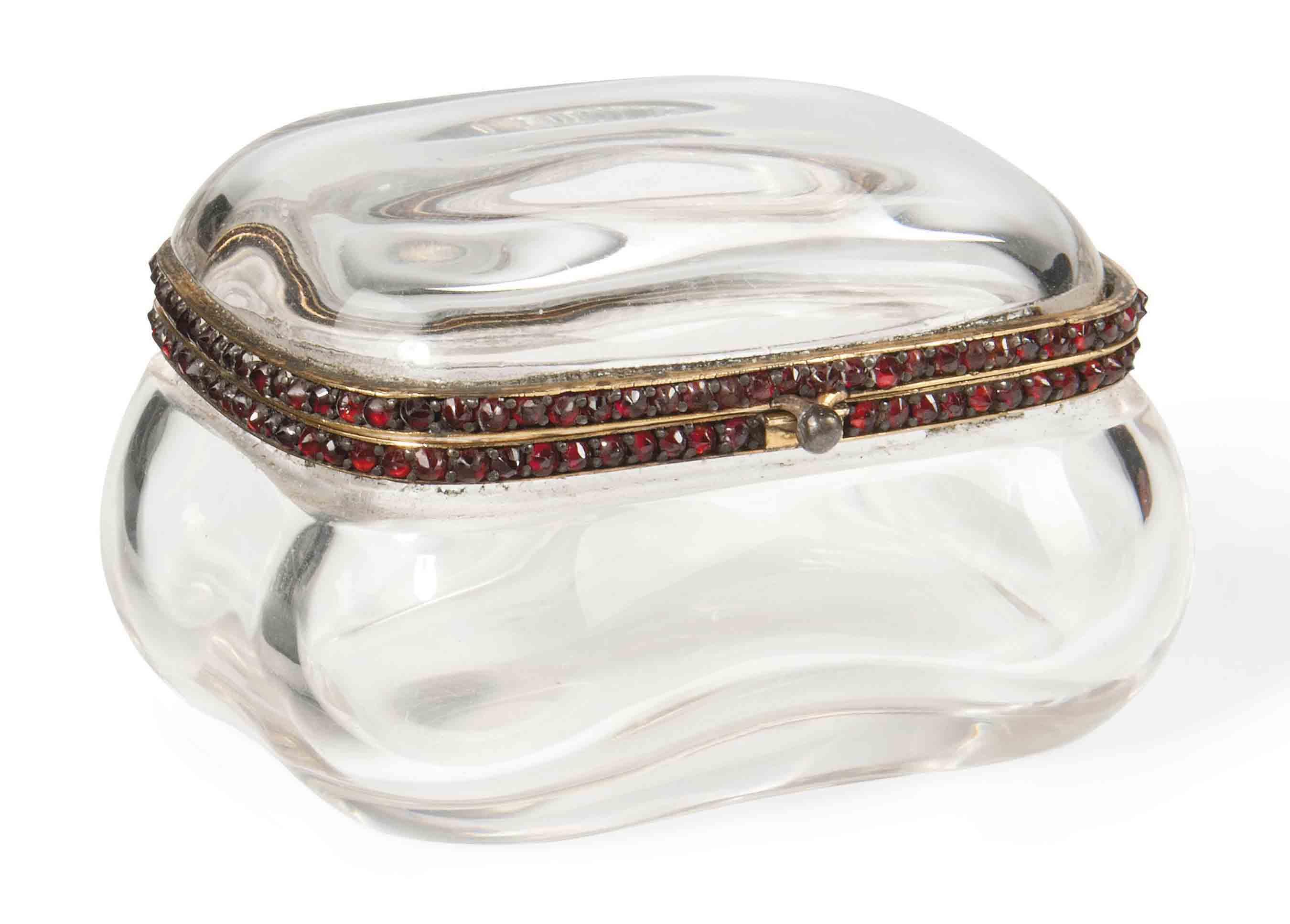 A GILT-METAL MOUNTED GLASS AND