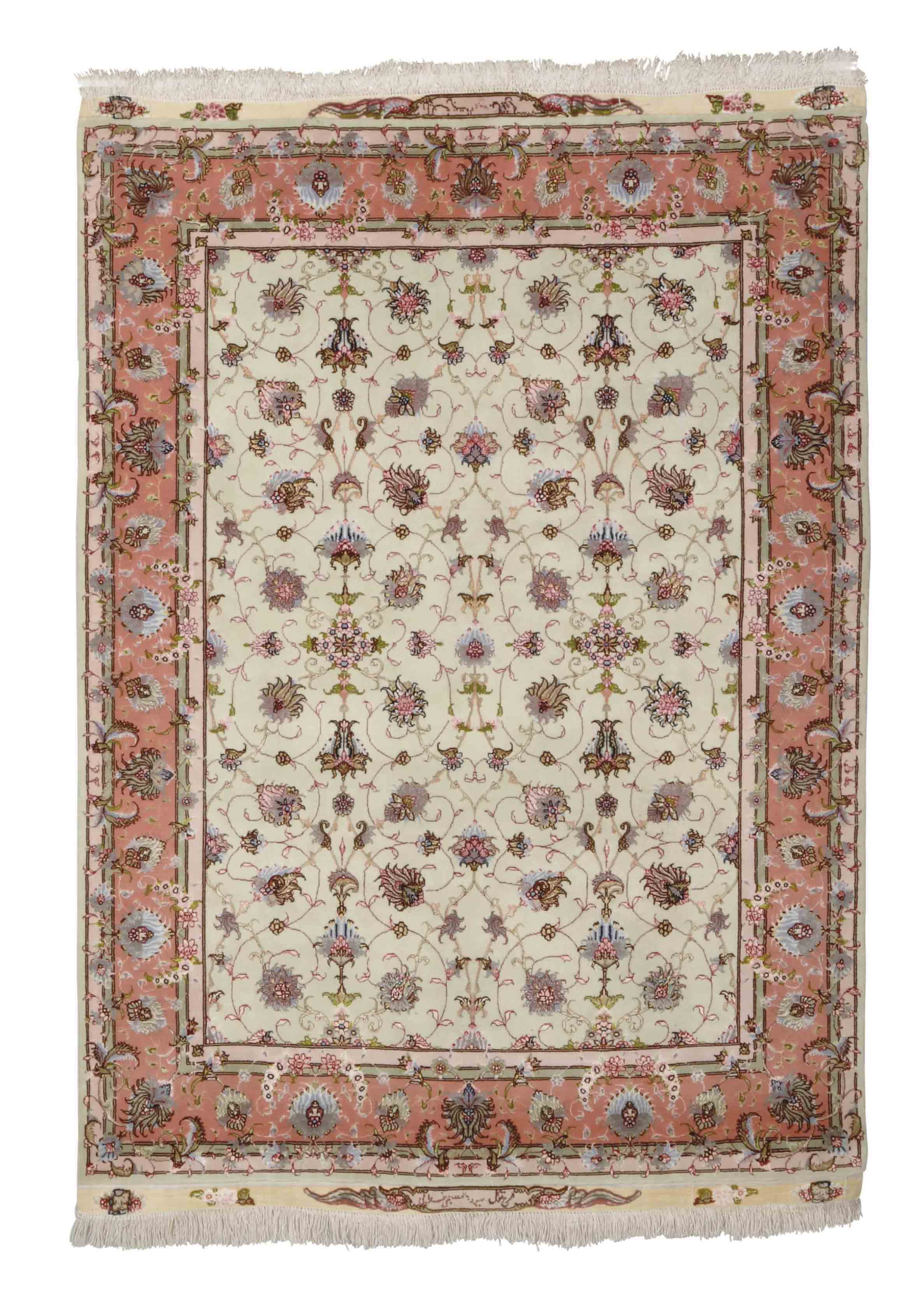 A very fine part silk Tabriz r