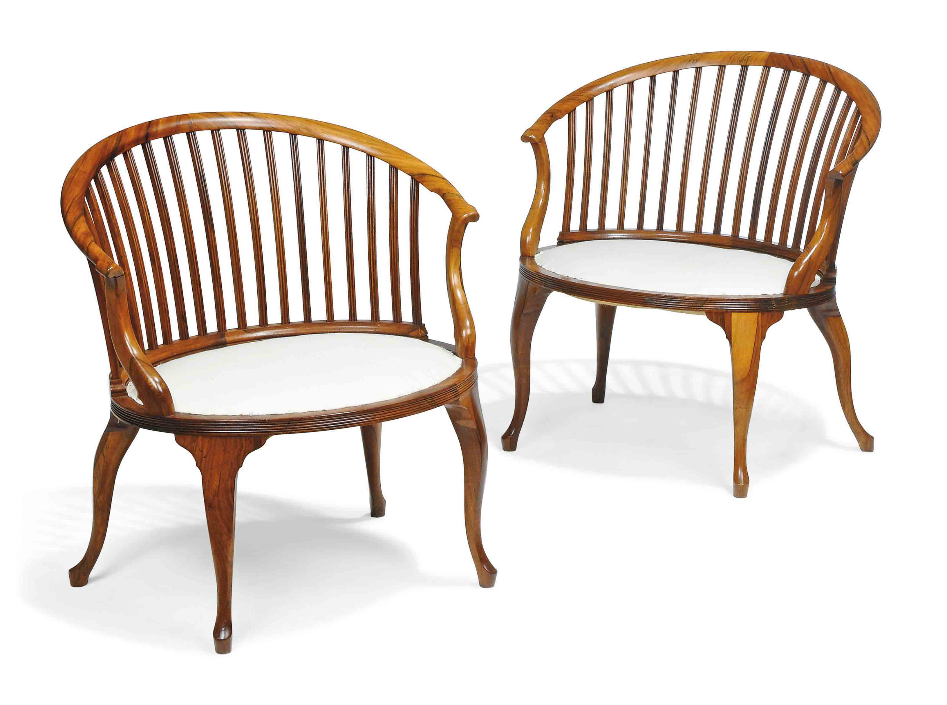 A PAIR OF ANGLO-COLONIAL ROSEW