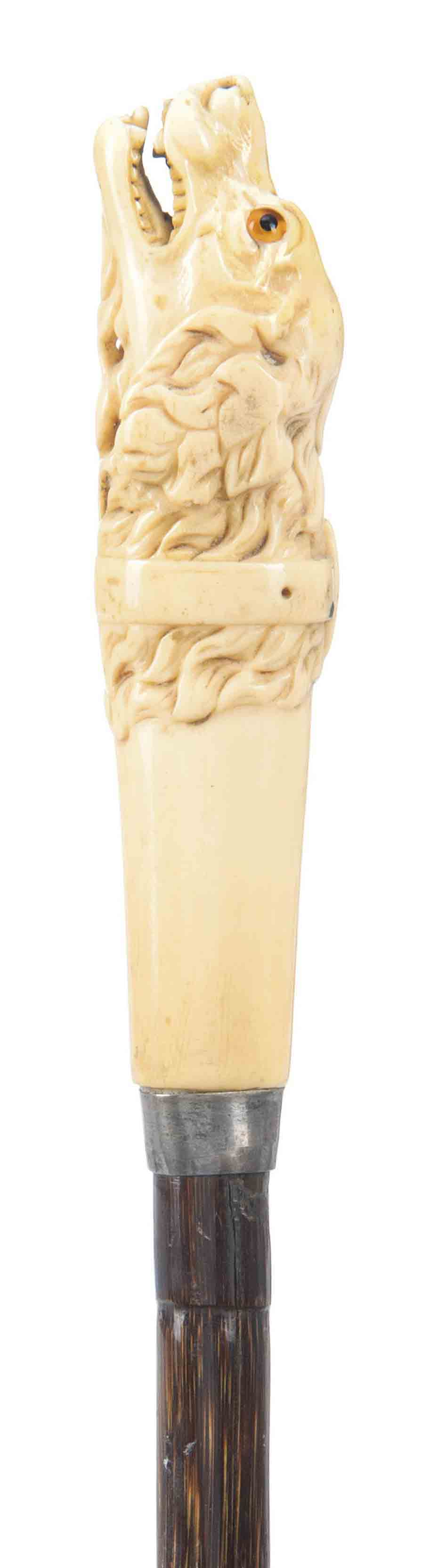 AN LATE VICTORIAN IVORY-HANDLE