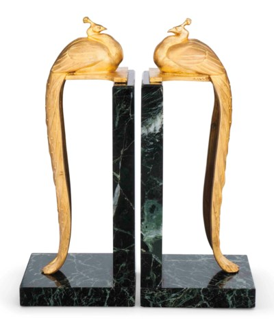 A PAIR OF CHARLES GILT BRONZE