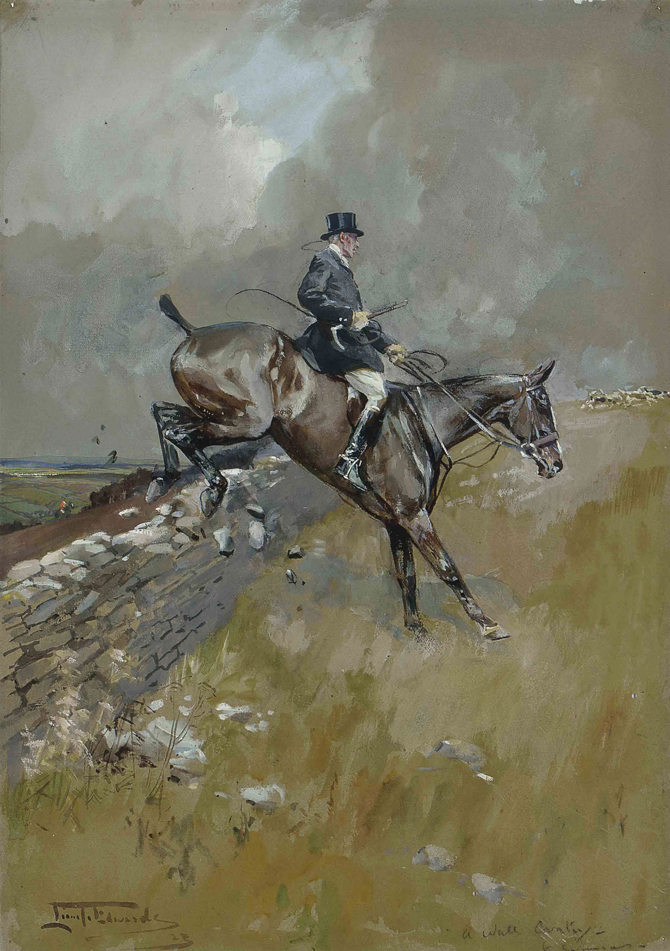 A wall country  O! Give me the man to whom naught comes amiss One horse or another that country or this.                       - R.E. Egerton Warburton Quaestium Meritis