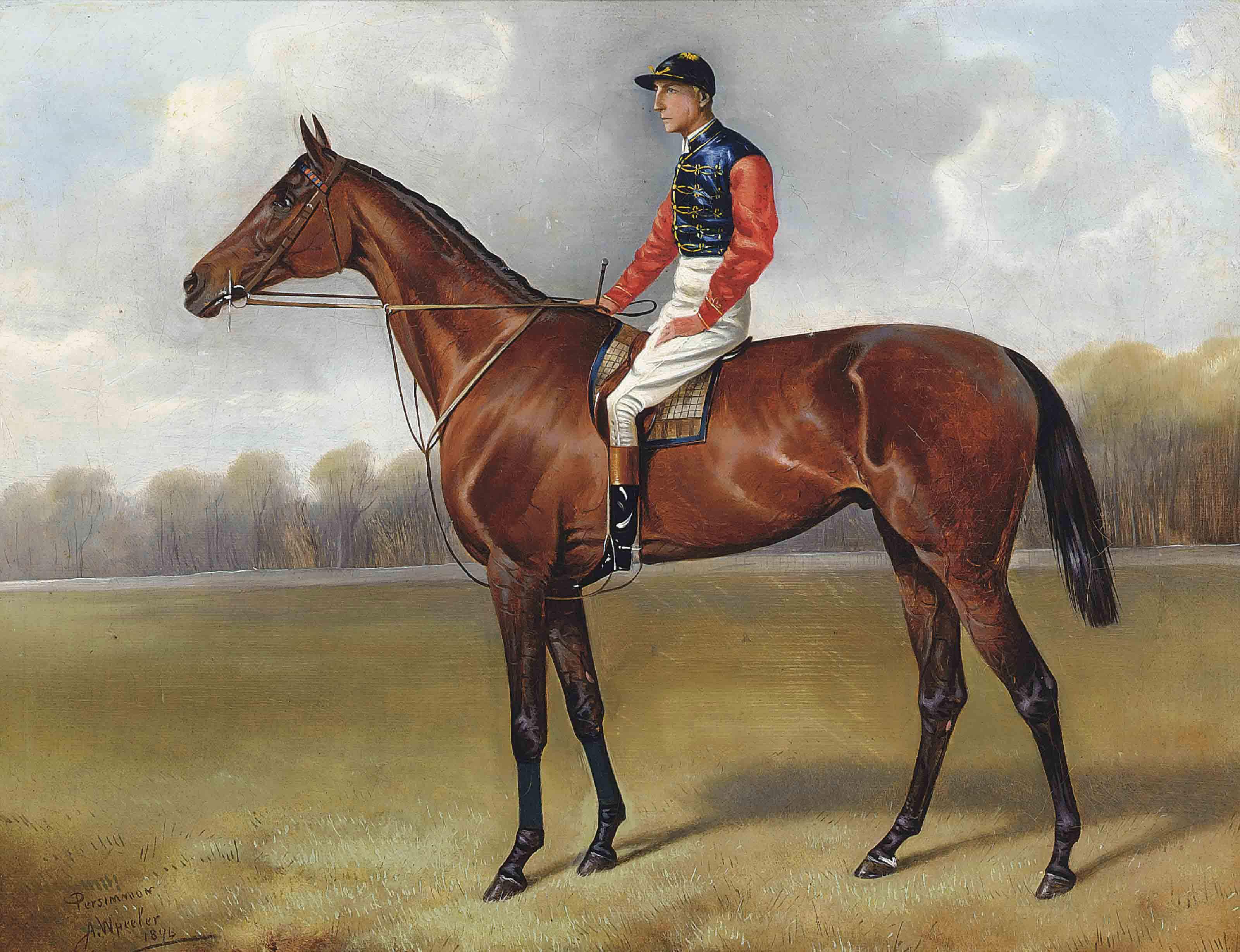 Persimmon, with jockey up