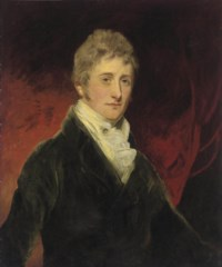 Portrait of a gentleman, traditionally identified as Thomas Hamilton, Lord Binning, later 9th Earl of Haddington (1780-1858), half-length, in a blue coat
