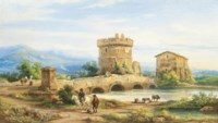 Travellers on the Roman Campagna