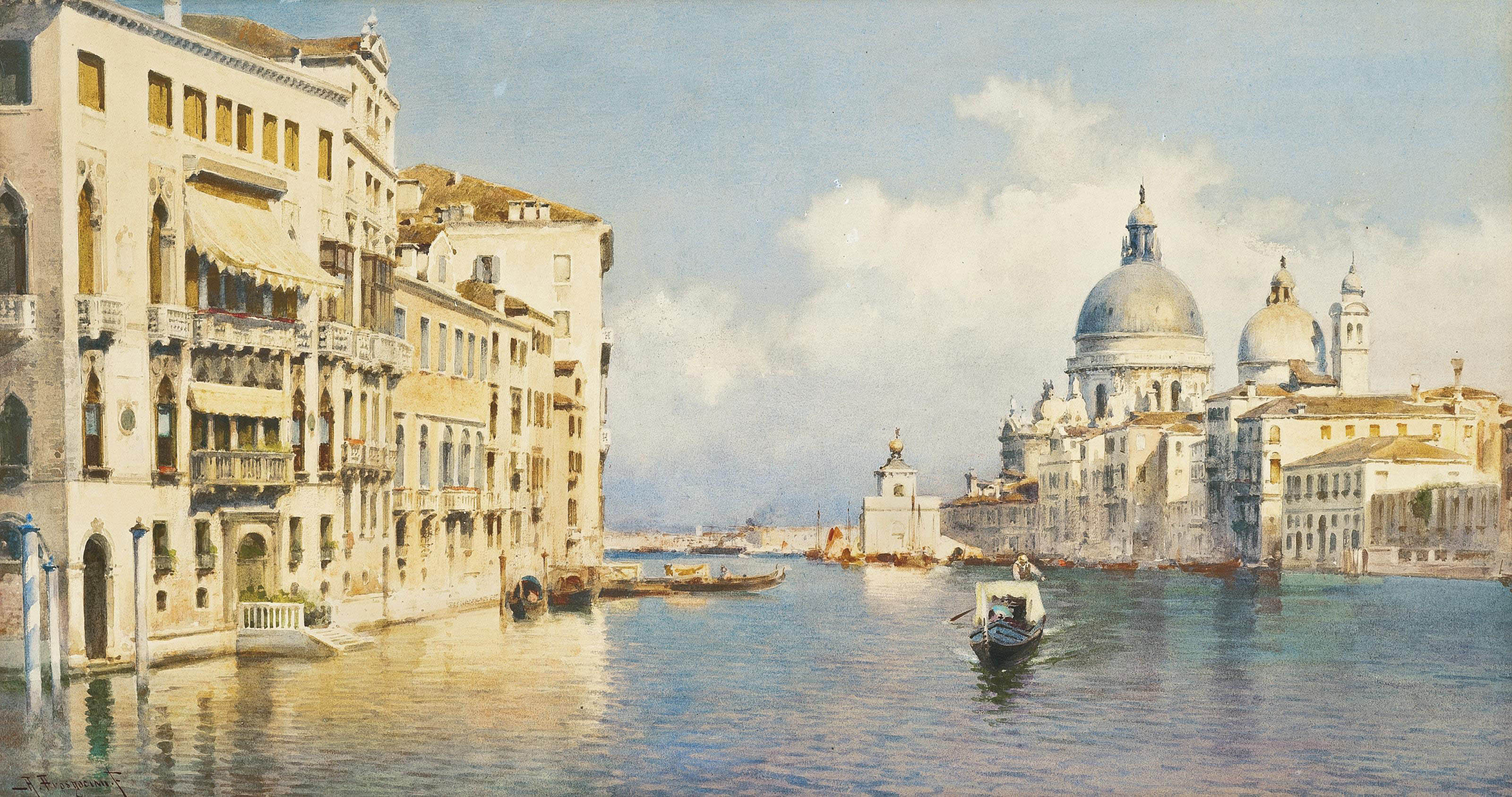 The Grand Canal before Santa Maria della Salute
