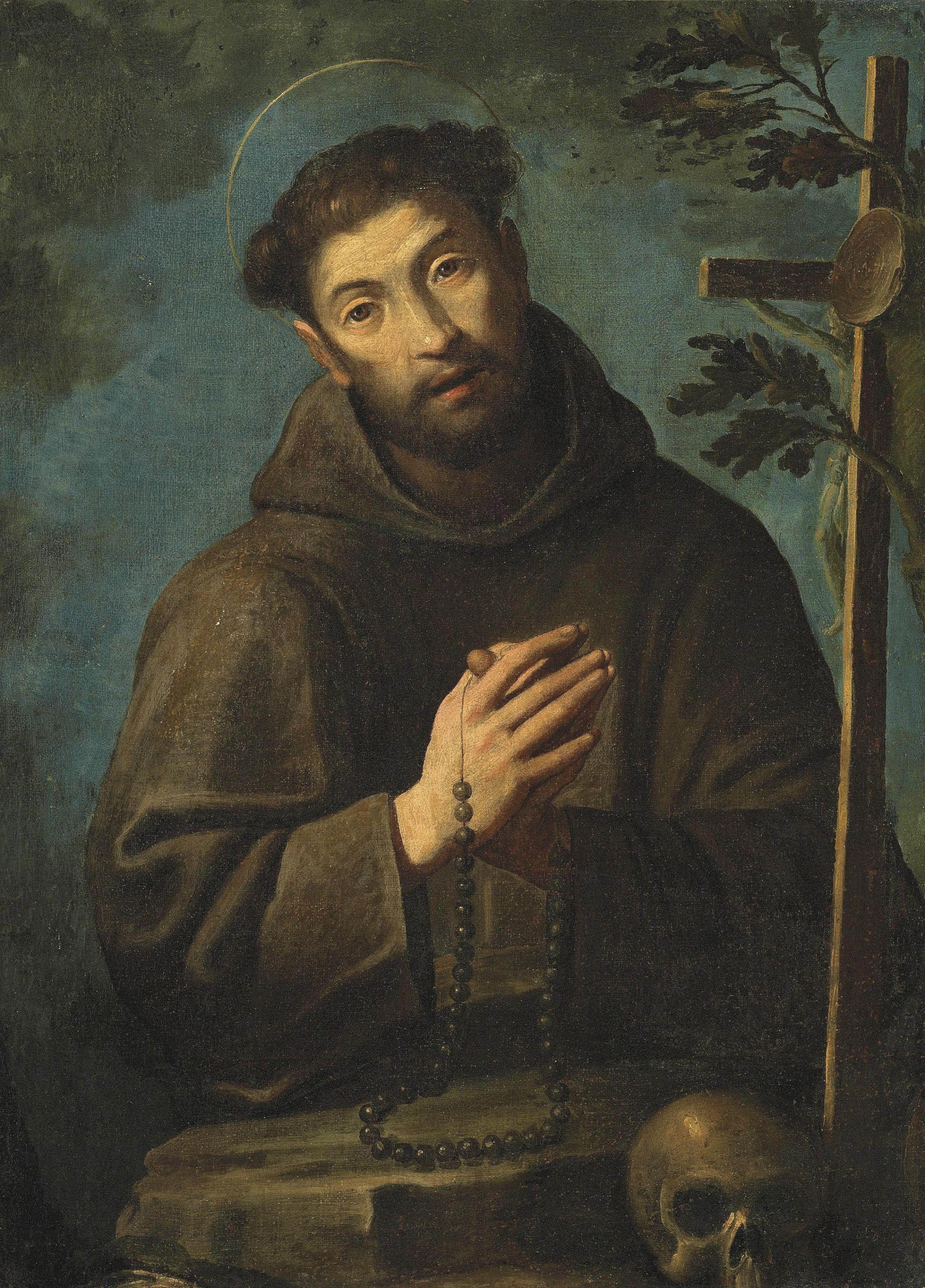 Saint Francis in a landscape
