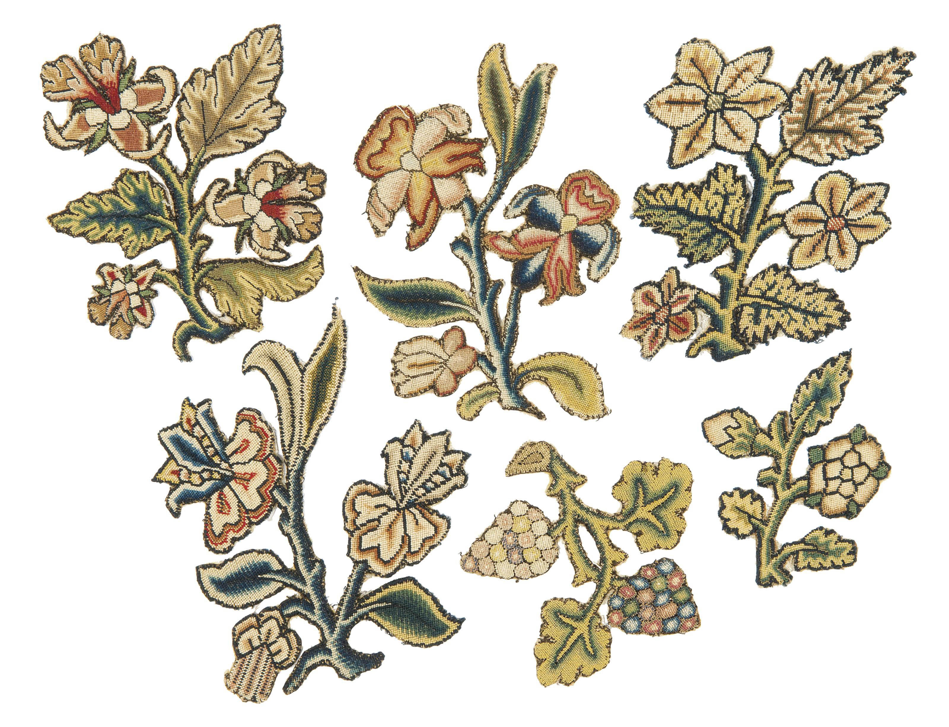 A COLLECTION OF EMBROIDERED SLIPS