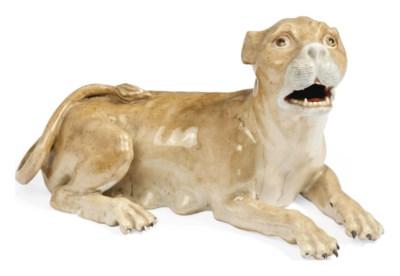 A MEISSEN MODEL OF A LIONESS