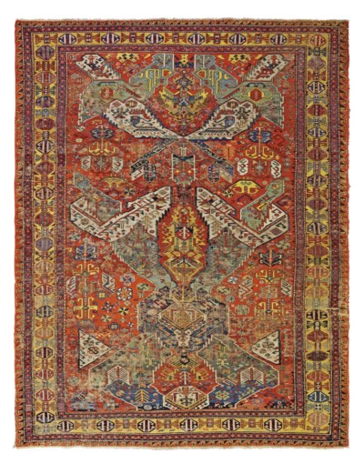 An antique Dragon Sumac carpet