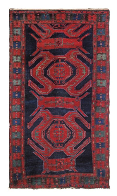 A large Kazak rug of Lenkoran