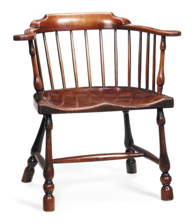 A GEORGE III ELM AND BEECH LOW