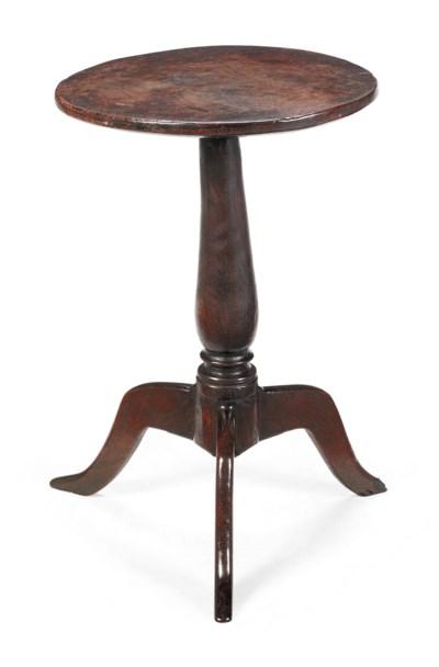 A GEORGE II OAK TRIPOD TABLE